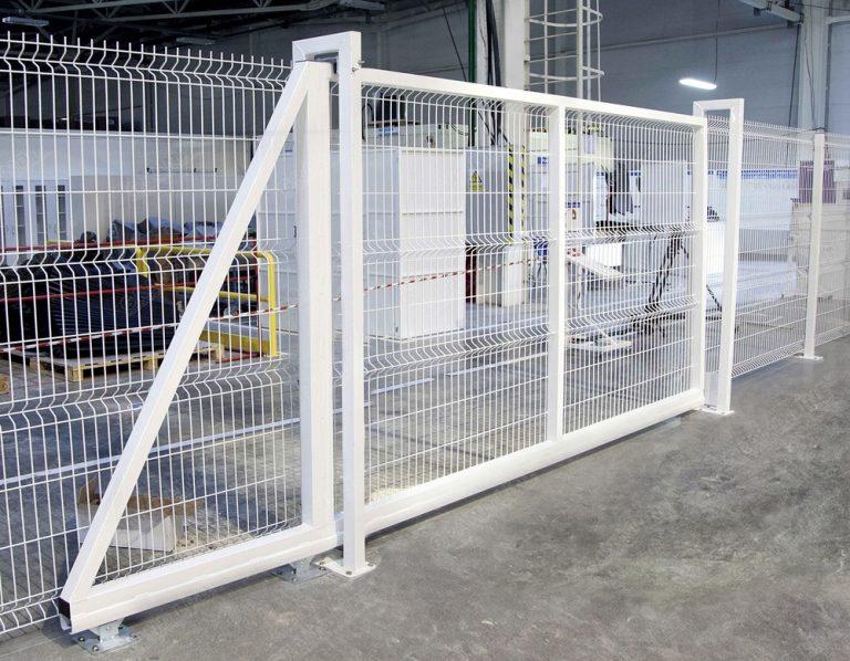 Откатные ворота для панельных ограждений