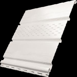 Белый софит Ю-пласт c частичной перфорацией