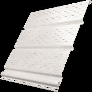 Белый софит Ю-пласт c полной перфорацией