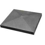 Крышка для забора бетонная 390*390 мм (серая)
