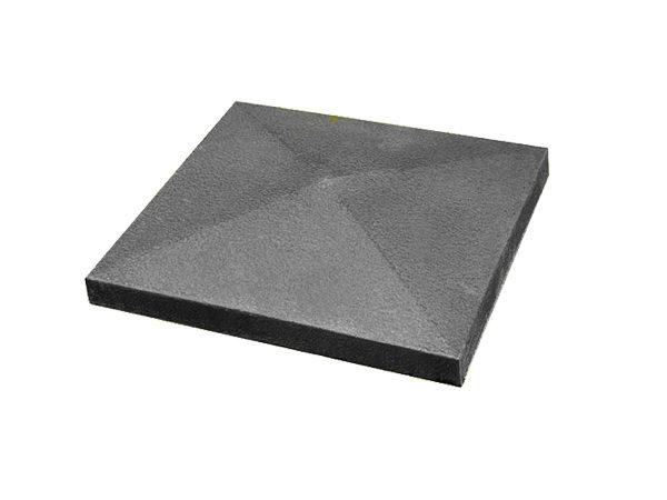 Крышка для забора бетонная 390-390 мм (серая)