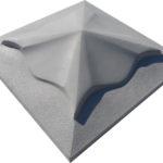 Крышка для забора бетонная 450*450 мм (серая)
