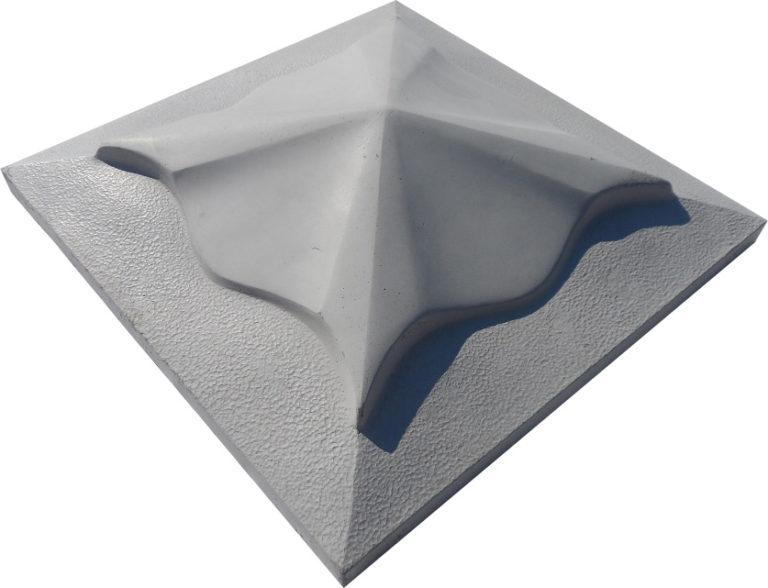 Крышка для забора бетонная 450-450 мм (серая)