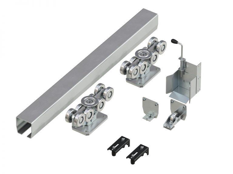 Система роликов и направляющих для балки х/к 138х144х6 L=8000мм